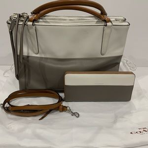 Authentic coach bag with matching wallet